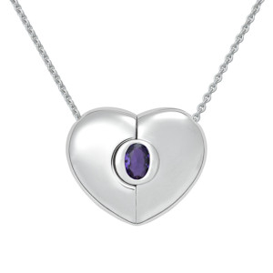 "Petra Azar ""Classics"" Heart Necklace with Amethyst"