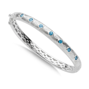 SG BLUE TOPAZ BANGLE