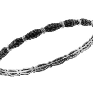Royal Jewelers Diamond & Black Diamond Bangle (HWC4928BJ)